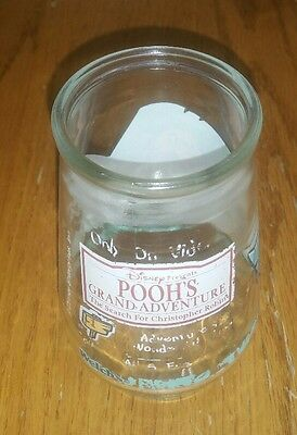 Vintage Ernie The Pooh Welch's Jelly Jar Glass 4 Inches Tall