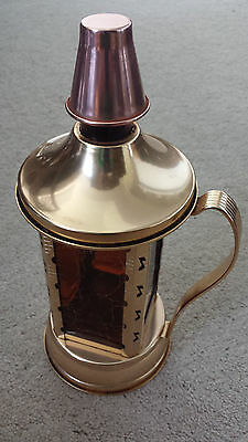 Vintage Antique SWISS HARMONY INC COPPER MUSICAL DECANTER Music Box- NICE!