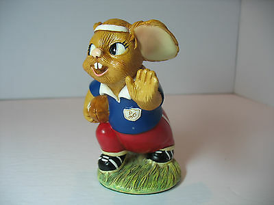 NEW Pendelfin  Johnny Rugby player Figurine rabbit Bunny w/ Box