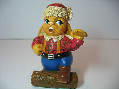 NEW Pendelfin  Axel the Lumberjack Figurine rabbit Bunny w/ Box