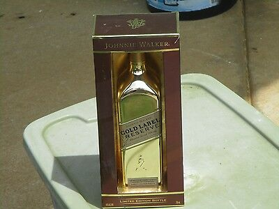 Johnnie Walker GOLD LABEL Reserve blended scotch whisky whiskey empty bottle box