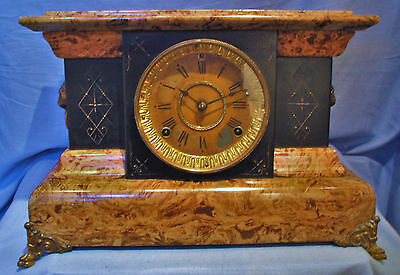 Seth Thomas Adamantine Chiming Clock - Circa 1880