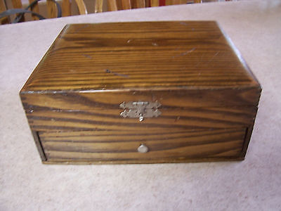 jewelry box  vintage  found in a estate  wood with drawer