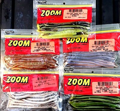 "Zoom ""Better Than Salt"" Soft Finesse Worm Lure - Choice of Color (One Package)"