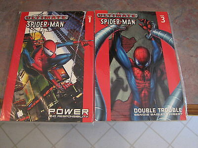 2 Ultimate Spider-man Volume #1 and #3 by Marvel softcover book NEW