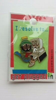 Marvin the Martian Looney Tunes WB Pin 1996 I resolve to get plugged in VTG NIP