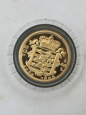Commemorative Fine Gold Coin 20fr Luxembourg 150 years Independance