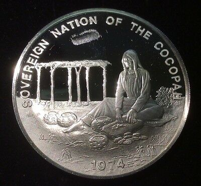 1974 Sovereign Nation of the Cocopah .999 Fine Silver 0.8± oz