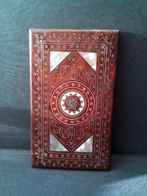 Vintage Wooden Inlaid Calling Card case.