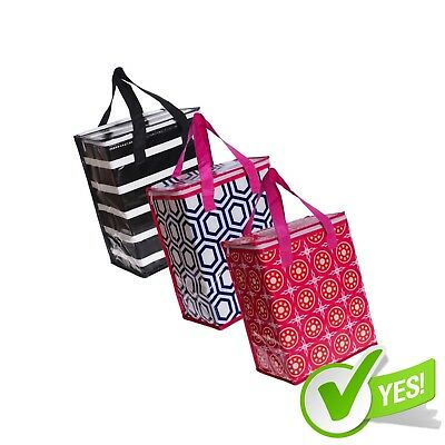 Thermal Insulated Reusable Grocery Shopping Bag 3 Piece Hot Cold Tote Bag Large