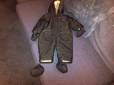 Mother Care Boys Nwots Brown Cord Snow Suit Age 6-9 Months
