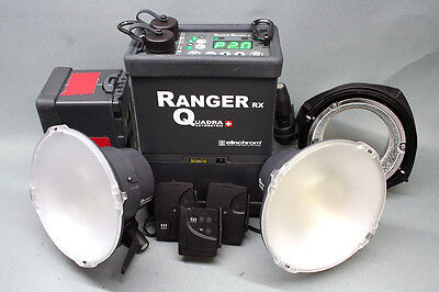 Elinchrom Ranger Quadra RX w/2 Batteries, 2 A Heads, Pelican, Cables and More!