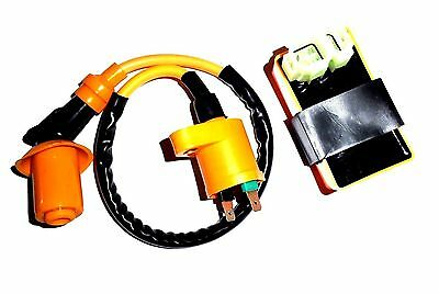 AC Fired Upgrade CDI Ignition Coil Set for Hammerhead Twister 150 150cc Go Kart Rep 6.000.125