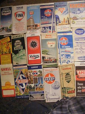 18 Road Maps  Oil Co Dx, Skelly, Derby, White Rose, Mobil, Conoco, Phillips 66