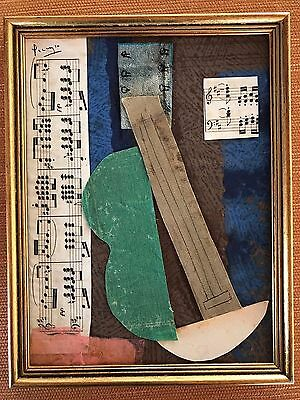 PABLO PICASSO - COLLAGE ON ORIGINAL PAPER OF THE '20s - MUSEM QUALITY!