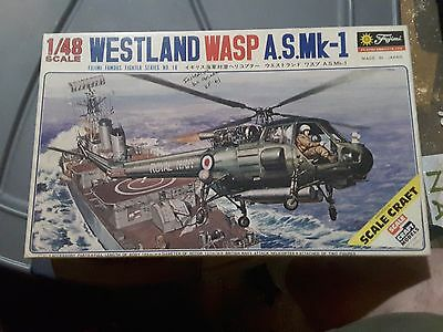 Vintage Fujimi 1/48 WESTLAND WASP A.S. MK 1 Helicopter Model kit MIB