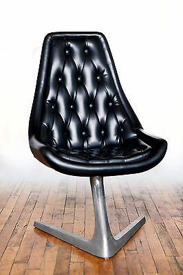 (2) CHROMCRAFT SCULPTA STAR TREK SWIVEL CHAIRS Mid Century Modern MCM Atomic 60s