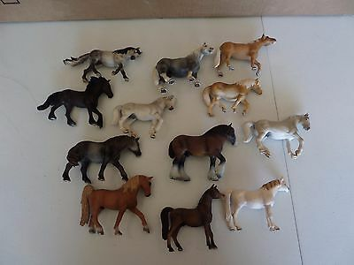 Schleich Horses Lot of 12 2000-2007 Clydesdale Shire Horse