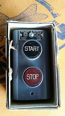 Square D Company Start Stop Push Button Station Type 30 600v AC or DC NEW