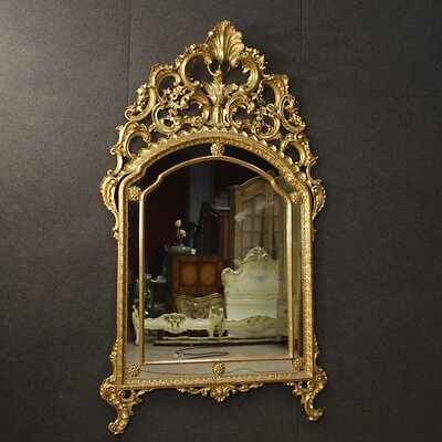 Mirror golden furniture glass wood antique style Louis XV antiques 900