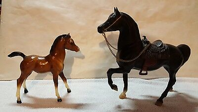 Breyer Traditional:  Western Prancer Mold and  Proud Arabian Foal Mold, Lot of 2
