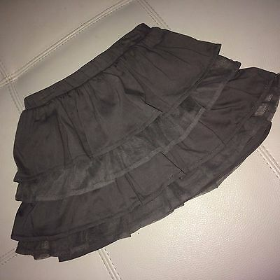 Lands' End size 5 Gray Layered Ruffle Tiered Tulle Skort Skirt with Shorts