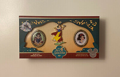 Disney Art of Snow White 3 Pin Box Set Limited Edition of 1150 D23 Exclusive