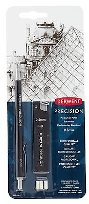 DERWENT PRECISION MECHANICAL PENCIL - 0.5mm/0.7mm with spare leads and erasers
