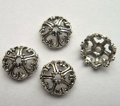 20pcs Tibet silver Flower End Beads Caps 12x5  mm