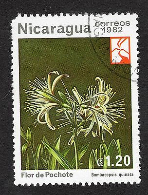 1982 Nicaragua 1.20 Woodland flowers Bombacopsis quinat SG 2416 GOOD USED R21643