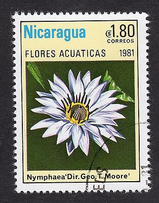 1981 Nicaragua 1.80 Water Lilies Nymphaea SG 2291 FINE USED R21639