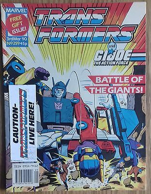 Transformers UK Comic Issue 259 With Free Gift Attached