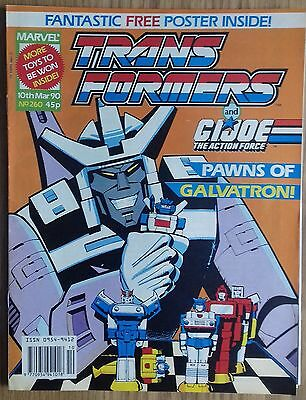 Transformers UK Comic Issue 260 With Free Gift Classics Poster