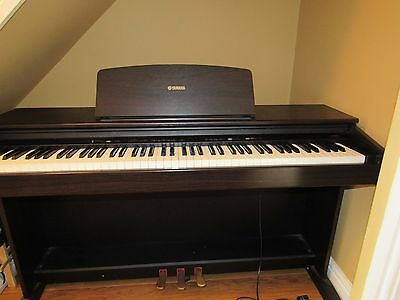 Yamaha arius ydp 101 digital full piano 88 key weighted keyboard and stool picclick uk for Yamaha fully weighted keyboard