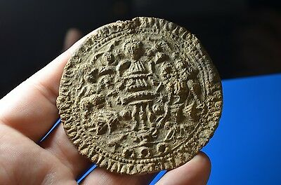 Ancient Roman Lead Mystery Cult Plaquette-Danube Horseman