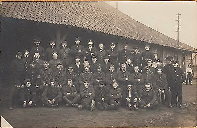 WWI PRISONER OF WAR POSTCARD ~ RPPC ~ GROUP PICTURE OF BRITISH POWs OF GERMANY