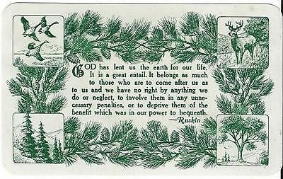 Vintage Wallet-sized Forestry Association / Boy Scout of America Card