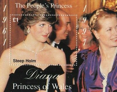 Diana Princess Of Wales Steep Holm 1997 The People's Princess Mnh Stamp Sheetlet