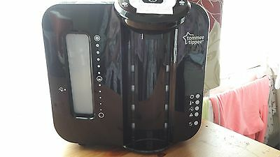Tommee Tippee Nature Perfect milk Prep Machine Black new. bottle used E11 4DS