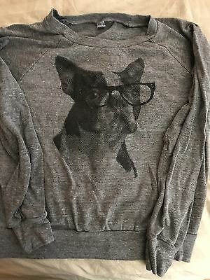 Boston Terrier Hipster Women's Sweatshirt