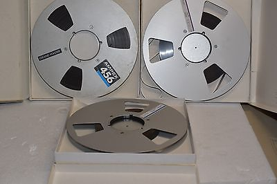 3 10 inch Metal Reels 1/2 INCH TAPE for Reel to Reel Recorder  THIS IS 1/2 INCH!