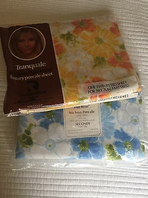 Vintage Sheets - Dan River NOS NIP New Full Flat & Twin Fitted