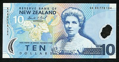 New Zealand 10 Dollars 1999 P-186a UNC Condition !!!