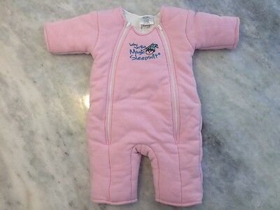 Baby Merlin's Magic Sleep Suit Pink Large  6-9 months Infant 18-21 lbs