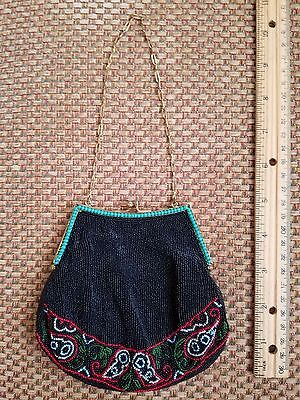 Vintage Beaded Purse with Chain Strap