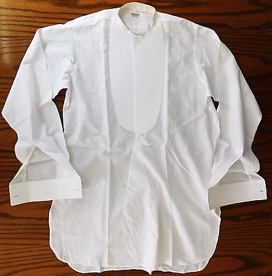 Starched tunic dress shirt Marcella size 15 New & Lingwood vintage 1940s 1950s