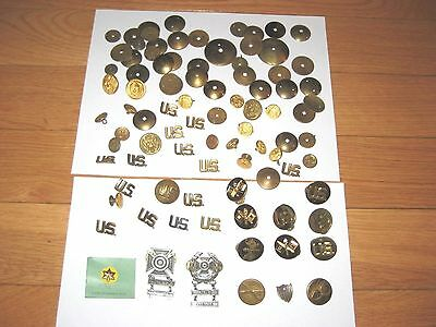 Lot of  Military Pins Insignia Buttons Various ones  U.S. Uniform