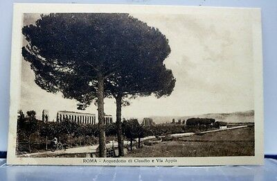 Italy Rome Claudio Appian Way Acqueduct Postcard Old Vintage Card View Standard