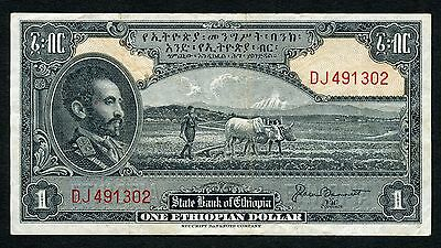 Ethiopia 1 Dollar 1945 P12b VF Condition !!!