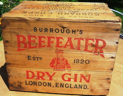 OLD BEEFEATER GIN WOOD box CRATE